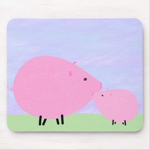 Mother & Baby Pig Mousepad