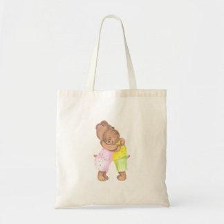 Mother Bear and Her Cub Hug Budget Tote Bag