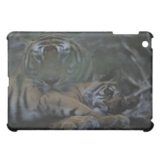 Mother Bengal Tiger with Cub iPad Mini Cases