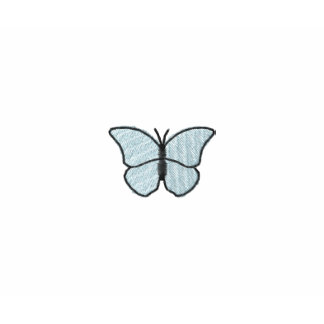 Mother Blue Butterfly Embroidered Shirt