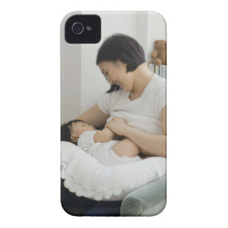 Mother breast feeding baby girl iPhone 4 case