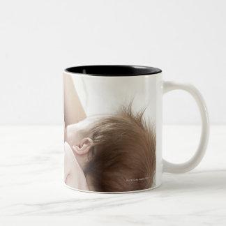 Mother breastfeeding baby 2 Two-Tone mug