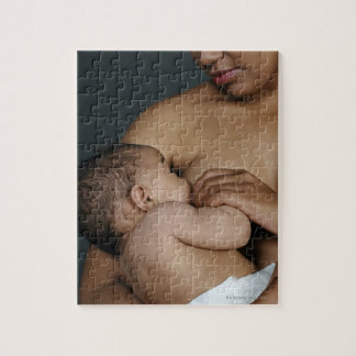 Mother breastfeeding baby boy (6-11 months) jigsaw puzzle
