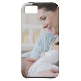 Mother breastfeeding baby iPhone 5 covers