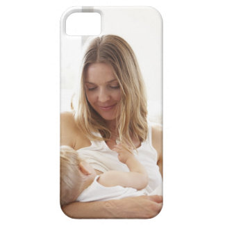 Mother breastfeeding her child iPhone 5 cases