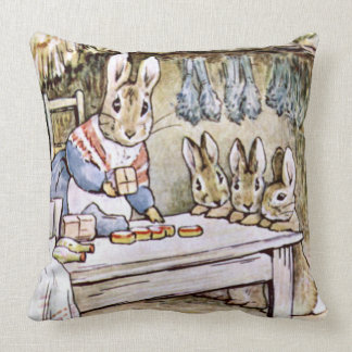 MOTHER BUNNY AT THE KITCHEN CUSHION