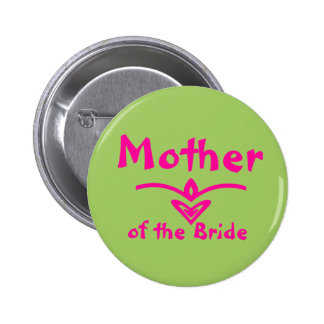 Mother Button in lime green and pink