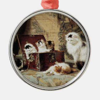 Mother Cat and Kittens by Henriette Ronner-Knip Christmas Ornament