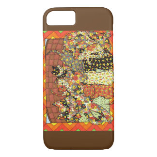 Mother Cat with Kittens Mexican Folk Art iPhone 7 Case