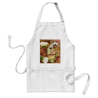 MOTHER & CHILD WITH CALA LILIES - MULTI STANDARD APRON