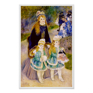 Mother & Children by Renoir Poster