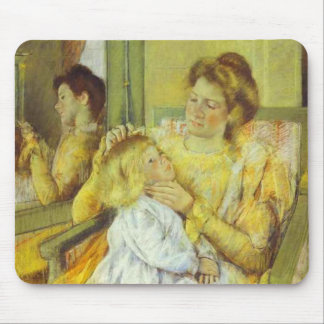 Mother Combing Her Child s Hair 1901 Mary Cassat Mouse Pads