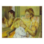 Mother Combing Her Child's Hair. 1901, Mary Cassat Poster