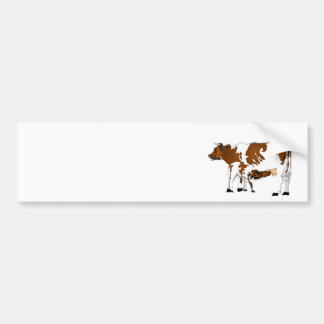 Mother Cow with Calf Bumper Sticker