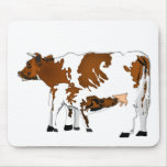 Mother Cow with Calf Mouse Pad