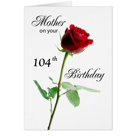 Mother Customisable Age Birthday Red Rose Card