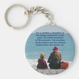 Mother Daughter Keychain