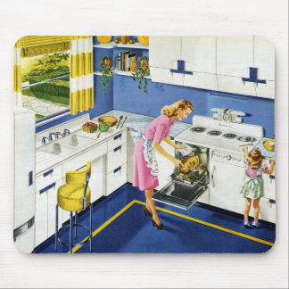 Mother/Daughter Retro Kitchen #2 Mouse Mat