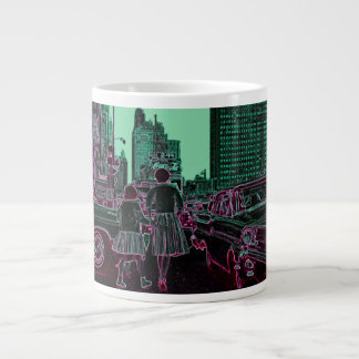Mother Daughter Shopping Michigan Ave Chicago 1961 Large Coffee Mug