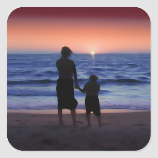 Mother Daughter Sunset Stickers