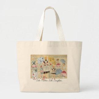 Mother Daughter Vintage Aprons Tote Jumbo Tote Bag