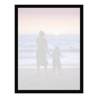 Mother & Daughter Walk on the Beach (Mother's Day) Custom Flyer