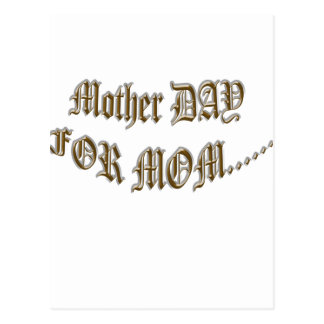 Mother Day For Mom Postcard