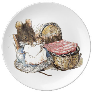 Mother Dormouse and her Child Plate