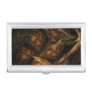 Mother Earth Abstract Art Business Card Holder