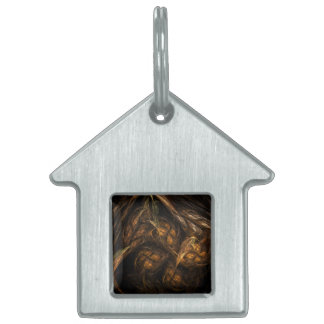 Mother Earth Abstract Art House Pet Tag