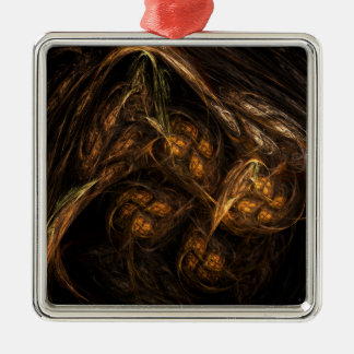 Mother Earth Abstract Art Square Christmas Ornament
