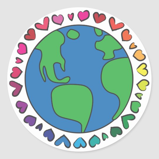 Mother Earth Day Save The Planet Rainbow Hearts