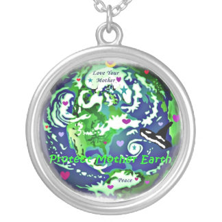 Mother Earth Globa Peace Necklace