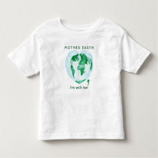 Mother Earth, I'm with Her World Map Toddler Tee