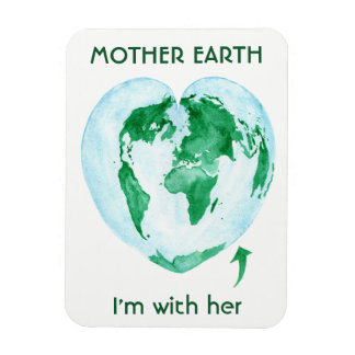 Mother Earth Magnet - I'm with Her Scientist Gift