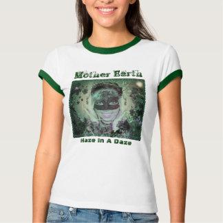 Mother Earth Ringer Womens Tshirt