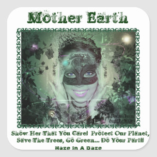 Mother Earth Square Sticker