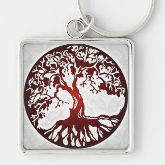 Mother Earth Tree of Life Square Keychain