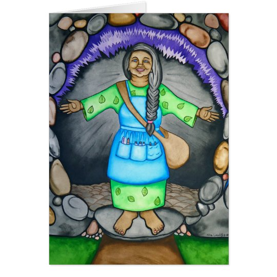 Mother Earth welcomes you by Rita Loyd Card