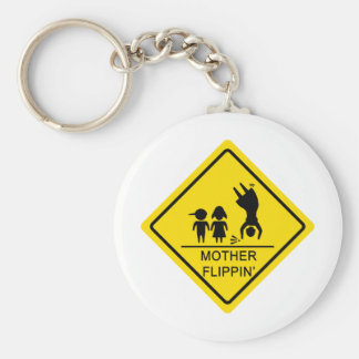 Mother Flippin' Yield Sign Key Ring