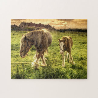 Mother & Foal Horse Jigsaw Puzzle