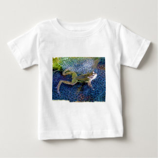 Mother Garden Frog in a Pond of her Frogspawn Baby T-Shirt