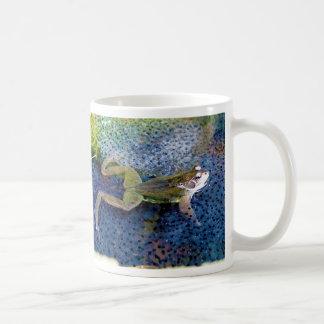 Mother Garden Frog in a Pond of her Frogspawn Mug