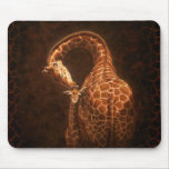 Mother Giraffe and Baby Mouse Pads