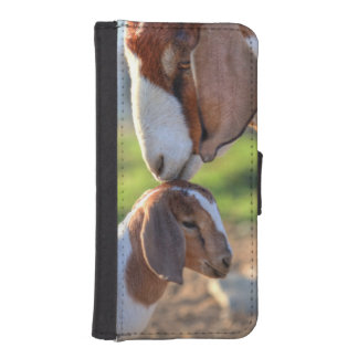 Mother Goat & Baby iPhone SE/5/5s Wallet Case