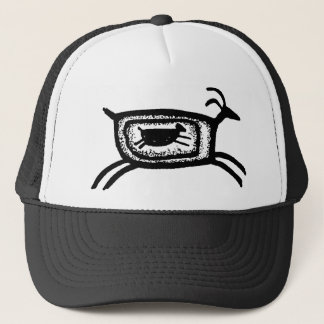 Mother goat-BW Trucker Hat