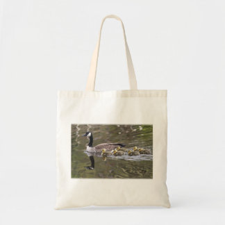 Mother Goose and Baby Geese Photo Tote Bag