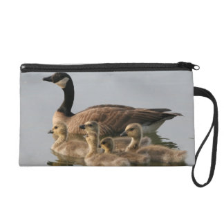 Mother Goose and Her Goslings Wristlet Clutch