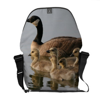 Mother Goose and Her Goslings Courier Bag