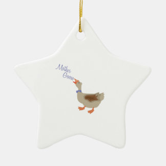 Mother Goose Double-Sided Star Ceramic Christmas Ornament